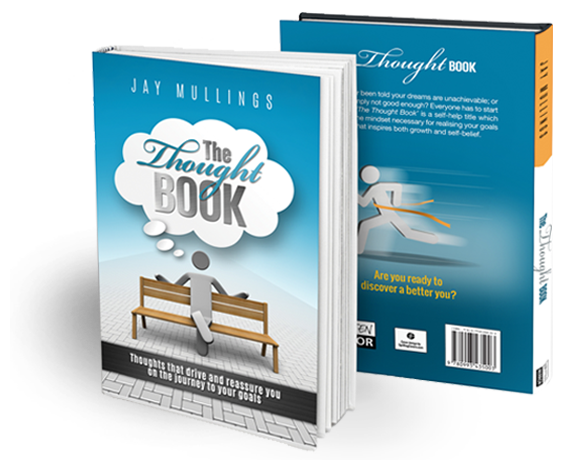 the thought book Jay Mullings written mirror cover